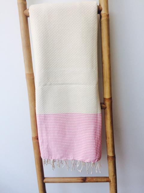 1m x 2m Serviette de Bain Fouta Tunisienne 100/% Coton Serviette de Plage